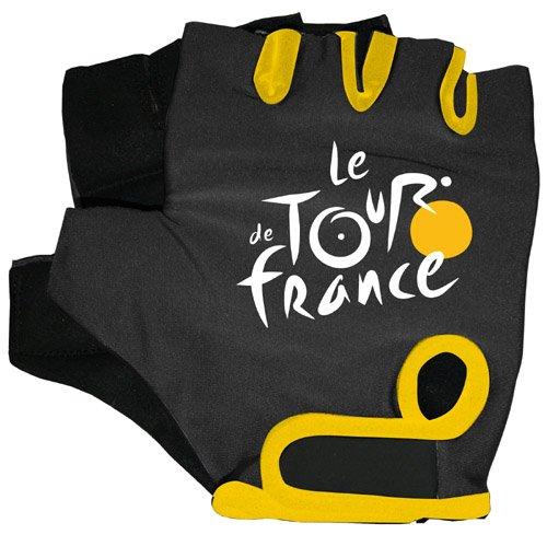 Tour de France – Guantes de Bicicleta Negro/Amarillo
