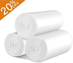 Small Trash Bags Office Clear Garbage Bags - Strong Wastebasket Liners for Bathroom, Kitchen, Office Trash Can Liners - 10 Liter 2.6 Gallon 120 Counts