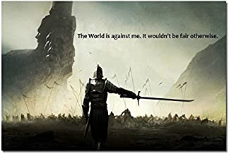 Tomorrow sunny The World is Against me - Motivational Quotes Art Silk Poster 24x36