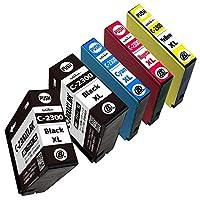 【NoSinker製】PGI-2300XL(BK×2/C/M/Y) 全色顔料5本セット キヤノン用互換インクカートリッジ 【最新ICチップ付】 【残量表示付】 安心365日保証付き