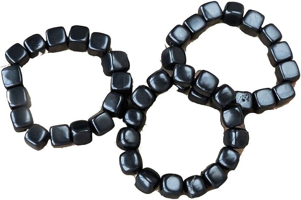 Shungite Purchase Wholesale bracelet with tumbled set beads Las Vegas Mall 3 pi