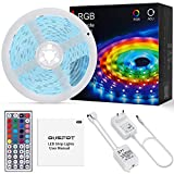 OUSFOT LED Striscia 5M RGB 150 LED, Strisce LED 5050 5M per Esterni Interno, Led Strip Ill...
