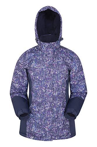 Mountain Warehouse Chaqueta de esquí Dawn para Mujer - A Prueba de Nieve, Abrigo de esquí con Forro Polar, puños, Dobladillo y Capucha Ajustables, Invierno Azul Marino 40