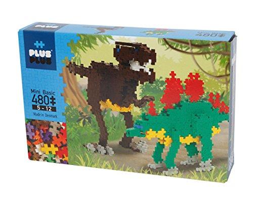Plus-Plus 9603741 Geniales Konstruktionsspielzeug, Basic, Dinosaurier, Bausteine-Set, 480 Teile