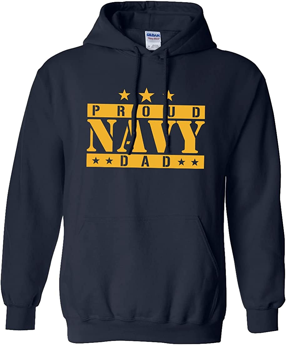 Proud Navy Dad in Hooded Sweatshirt Brand Cheap Sale Max 85% OFF Venue
