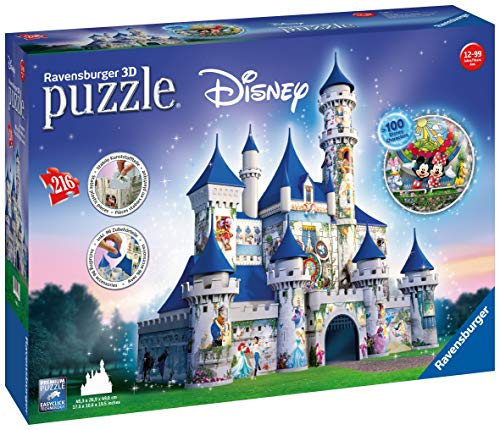 Ravensburger Disney Castle, 216 Piece 3D Jigsaw Puzzle