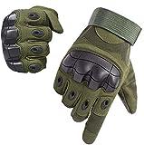 Guantes Táctiles de Moto Deportivos Guantes Militares Tacticos Anticorte Verano Hombres para Moto Ciclismo Deportes Airsoft(Verde Militar,L)