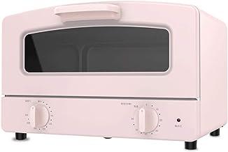 Z-Color Tubo Mini Horno eléctrico del hogar Doble Vidrio de Cuarzo de calefacción Cajón Tipo Net y la Parrilla de cocción 1000w Banco Fuentes Superior del Horno (Color : Pink)