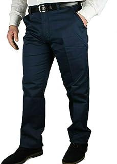 Pantalone Uomo Invernale Imbottito in Pile Elegante Classico Caldo Foderato 46-60 a Tasca America Vita Alta Nero