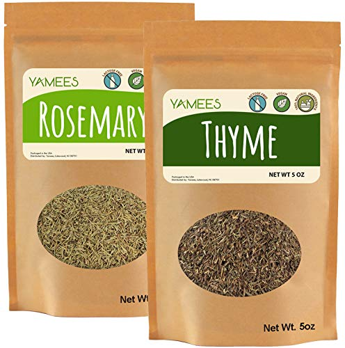 Yamees Thyme – Rosemary – Dried Thyme and Rosemary – Bulk Spices – 10 Oz (5 Oz Each)