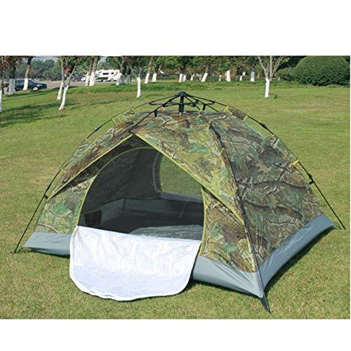 Generic Brands Tente Automatique à Double Couche d'une Seule pièce 2-3 Personnes Tente à Ressort Automatique Gratuite pour Construire Une Tente de Camping Anti-Soleil