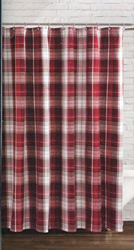 Winter Wonderland Winter Retreat Plaid Fabric Shower Curtain
