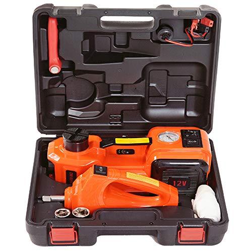 TSSM Auto-Wagenheber, Kfz-Hydraulik-Wagenheber-Satz Multifunktions-All-in-One-Hebebühne 3,5-Tonnen-12-V-Reparatur-Tool-Kit Ideal für die Fahrzeugreparatur