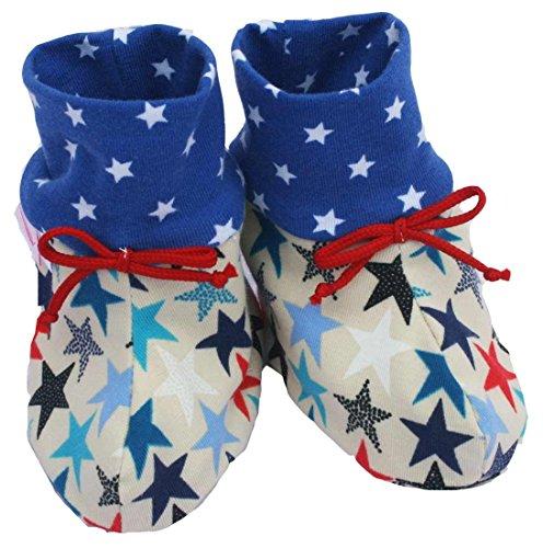 Farbgewitter Jungen Mädchen Babyschuhe Sterne (0-6 Monate)