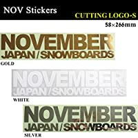 NOVEMBER【ノベンバー】ステッカー CUTTING LOGO-S カッティング ロゴ エス スノーボード ステッカー (WHITE)
