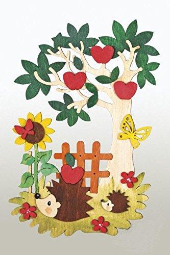 Kuhnert  Hobaku Bastelset Fensterbild - Herbst - aus Holz zum Zusammenbauen