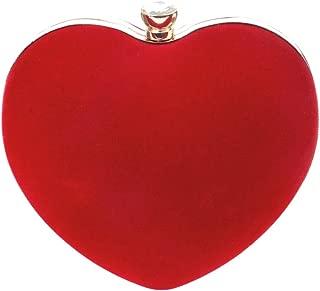 Womens Heart Shape Clutch Bag Messenger Shoulder Handbag Evening Party Prom Bag Purse
