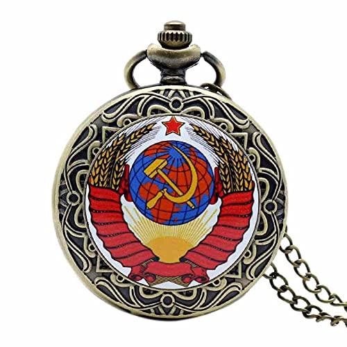 Reloj De Bolsillo De Cuarzo - Insignias De Martillo Retro De La Unión Soviética, Reloj De Bolsillo Con Hoz, Diseño De Gancho, Collar De La Urss, Cadena De Regalo Para Hombres Y Mujeres, 2, Cade