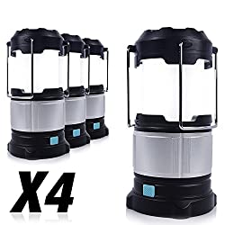PARTYSAVING [4-Pack] Camping Emergency Portable LED Lantern
