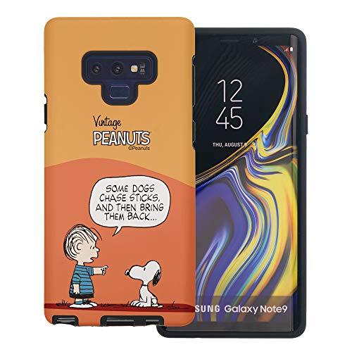 Galaxy Note9 ケース と互換性があります Peanuts Snoopy ピーナッツ スヌーピー ダブル バンパー ケース デュアルレイヤー 【 ギャラクシー ノート9 ケース 】 (漫画 ライナス スヌーピー) [並行輸入品]