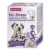 Beaphar – NO Stress – Diffuseur électrique calmant à la Valériane pour Chien – Réduit Le Stress & problèmes comportementaux sans dépendance – 4 semaines d'action – 1 Prise + 1 Recharge 30 ML