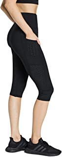 Rockwear Activewear Women's 3/4 Logo Perforated Pocket Tight Black 14 from Size 4-18 for 3/4 Length High Bottoms Leggings ...
