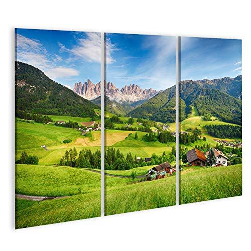 islandburner, Quadro Moderno Dolomiti Alpi Montagna Val di Funes Quadri Moderni x poltrone Salotto Cucina mobili Ufficio casa PRS