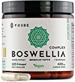 Boswellia Complex with Boswellin Super Ginger Extract & Bioperine - 120 Easy Swallow Vegan Capsules - Superior Absorption - Joint Support Mobility Shiftiness Relief Cartilage Gut Respiratory Health