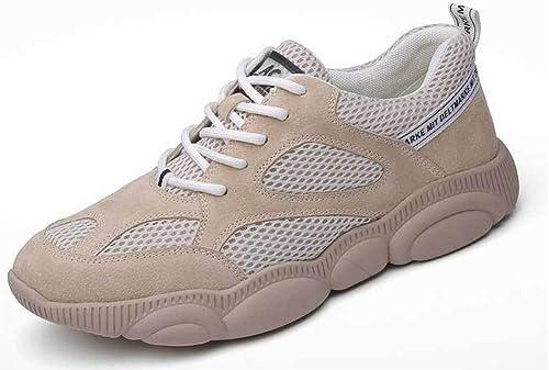 CHENDX Hauszapatos, Moda para Hombre Punta rojoonda Un pie Pedal Oxford Casual Cómoda Cubierta Pies Zapaños de Ropa de Trabaño (Color   azul, Tamaño   39 EU)