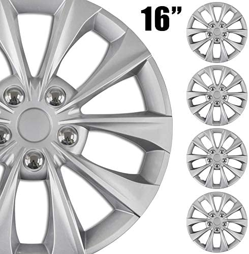 BDK 4 Pack Premium 16 Wheel Rim Cover Hubcaps OEM Style for Toyota Camry Replacement Snap On product image