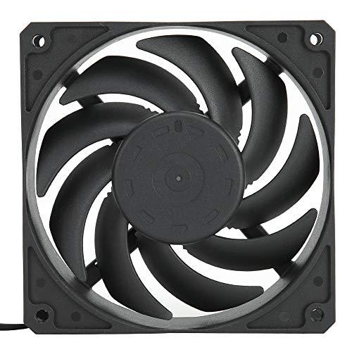 Ventilador de enfriamiento de Caja de PC de 120 mm, Ventilador de enfriamiento de Alto Rendimiento de 4 Pines 2400 PWM, Enfriador de Juegos súper silencioso de bajo Ruido(Negro)