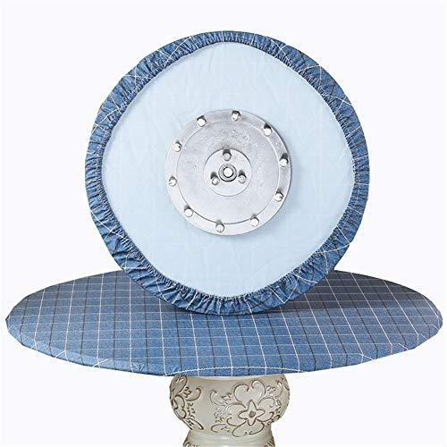 SYLC Mantel redondo resistente al agua antideslizante, manteles redondos para mesa circular, protector de mesa redondo resistente al calor y fácil de limpiar (rejilla azul marino, 180 cm)