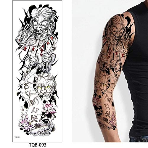 tzxdbh 5Pcs- Tatuaje De Brazo Completo, Pegatinas De Tatuaje Impermeables Femeninas De Doble Pistola para Hombres, Mujeres, Adultos, Niños, Tatuajes con Marcas Oscuras De Tqb093