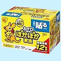 (まとめ買い)アイリスオーヤマ ぽかぽか家族貼るレギュラー60個入PKN-60HR 【×2セット】