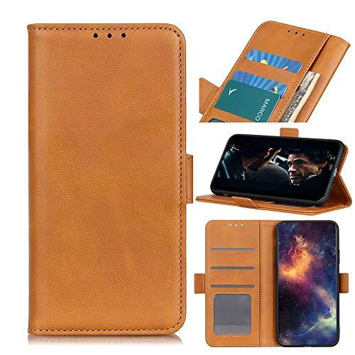 GARITANE Funda para Nokia 3.1 Plus,Carcasa con Tapa Lateral Cierre magnético de Cuero Tarjetero y Suporte Capa Cartera Flip Cover Case(Amarillo)