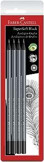 EcoLapis Grafite Faber-Castell SuperSoft Multicor Cartela c/ 4 unid, Faber-Castell, SM/907SOFT, Gris