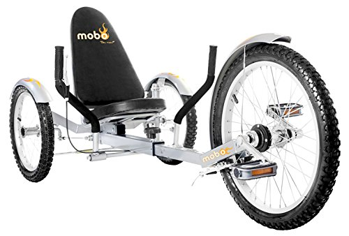 Mobo Triton Pro Recumbent Tricycle for Men & Women. 3-Wheeled Bike. Cruiser Lowrider Trike