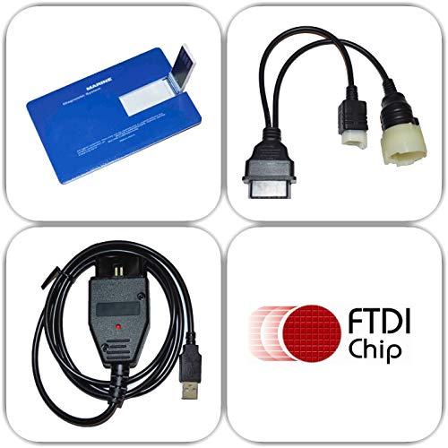 moto-solution Diagnostic USB Cable Kit for Suzuki SDS 8.40 Outboard Boat Marine