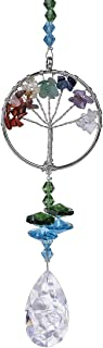 H&D Crystal Sun Catcher Tree of Life Window Ornament with 38mm Crystal Prism