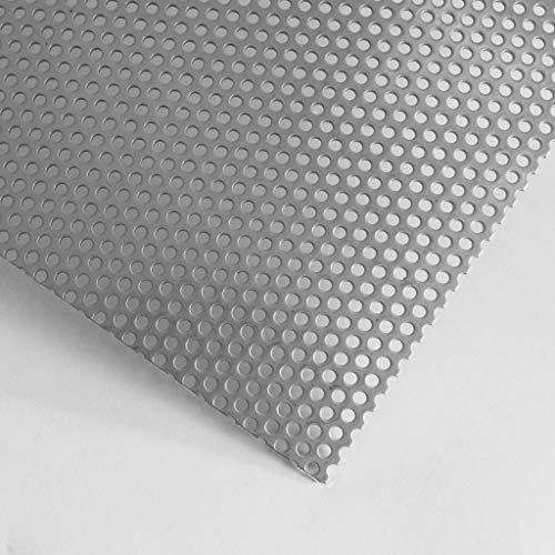 Lochblech Edelstahl RV5-8 V2A Roh 1,5mm dick - Zuschnitt nach Maß (1000 mm x 400 mm)