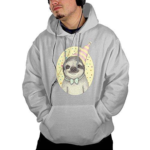 Birthday Sloth Men's Custom Long Sleeve Hoodies M
