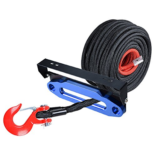 Learn More About Astra Depot 85' x 3/8 Synthetic Winch Rope Rock Guard Protective Sleeve + 10 inch B...