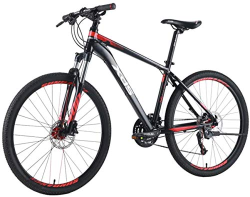 26 Inch Mountain Bike for Men and Women, Adult 27-Speed Mountain Bicycle, Men's Aluminum Frame Hardtail MTB Bike, Dual-Suspension Alpine Bicycle,S
