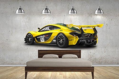 McLaren P1 GTR Super Autos 100cm Wand tattoos Wandtattoos Dekorative Wandabziehbilder Customise4U™