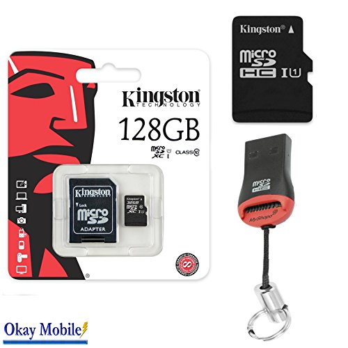 Originele Kingston MicroSD SDHC geheugenkaart 128GB Tablet voor Samsung Galaxy Tab A 10.1 LTE (2016) 128GB + kaartlezer