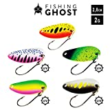 FISHINGGHOST Trout Spoon Set Gallo 2gr - 5 Forellenblinker mit extrem fängigen Design zum Forellen...