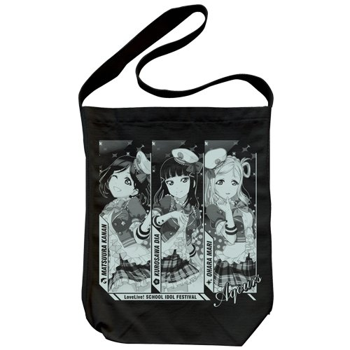 Love Live! Sunshine Canaan Diamond-Kiku - Bolso Bandolera, Color Negro