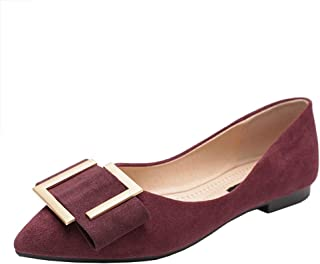 Women's Classic Pointed Toe Comfort Slip On Ballet Flats Shoes