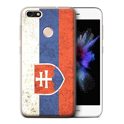 Stuff4® Gel TPU hoes/case voor Huawei P9 Lite Mini/Slovenië/Slowaakse patroon/vlag collectie