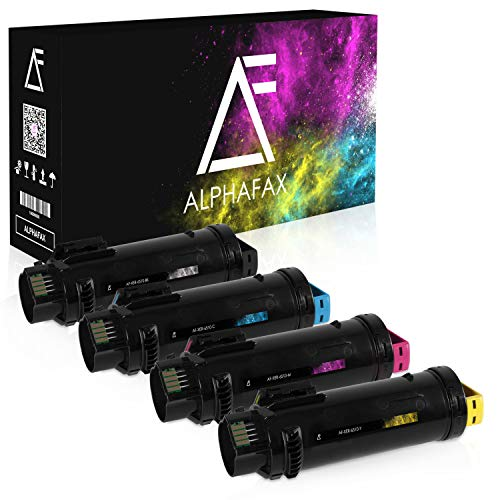 4 Alphafax Toner kompatibel mit Xerox Phaser 6510DN 6510DNI 6510N 6510 WorkCentre 6515DN 6515DNI 6515N